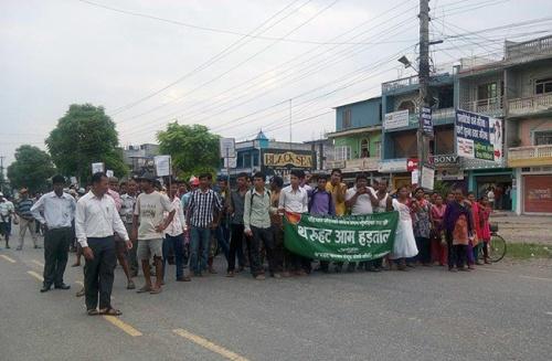 Tharu-Protest