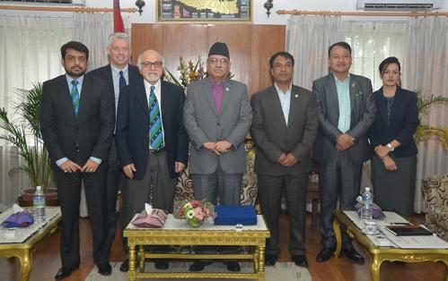 Pm-Prachanda-with-Icc-ceo-David-Richardson